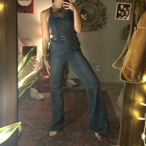 Pacsun flare zip-up overalls